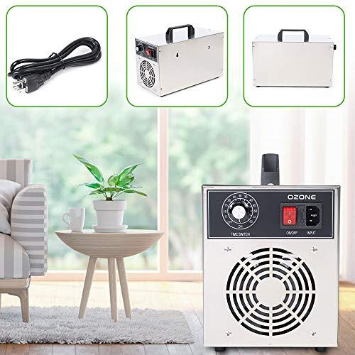 DONSU Commercial ShockOzone Disinfecting Ozone Machine 3g/h Air-Cooled ShockOzone Disinfecting Ozone Machine Air Purifier Ozonizer O3 Disinfect Sterilizer 60m² 110V…